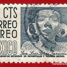 Francobolli: MEJICO. 1956. ARQUEOLOGIA. SAN LUIS DE POTOSI. Lote 222300705