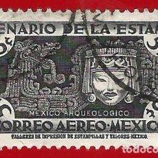 Francobolli: MEJICO. 1956. CENTENARIO DEL SELLO. ORNAMENTOS Y MASCARA. Lote 222300808