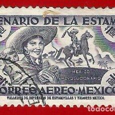 Sellos: MEJICO. 1956. CENTENARIO DEL SELLO. MUJER. NIÑO. JINETE. Lote 222300882