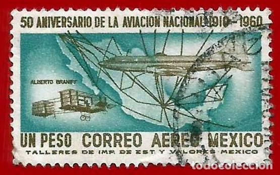 MEJICO. 1960. AVIACION MEJICANA. DOUGLAS DC - 7 (Sellos - Extranjero - América - México)