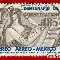 Sellos: MEJICO. 1957. CENTENARIO DE LA CONSTITUCION. Lote 222548463