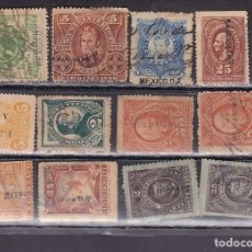 Francobolli: ST- LOTE SELLOS FISCALES CLÁSICOS MEXICO 1874 /1896 . VER 3 IMÁGENES. Lote 223867020
