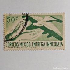Sellos: MÉXICO. SELLO USADO DE 2 C, DE 1956. CORREO AEREO URGENTE. ENVÍO GRATIS POR PEDIDOS DE 3€ O MÁS.. Lote 231040550