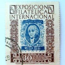 Sellos: SELLO POSTAL MÉXICO 1956, 30 CTS, EXPOSICIÓN FILATÉLICA NACIONAL, USADO. Lote 231970560