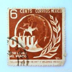 Sellos: SELLO POSTAL MÉXICO 1946, 6 CTS, O.N.U. POR LA PAZ DEL MUNDO, USADO. Lote 231974845