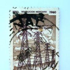 Sellos: SELLO POSTAL MÉXICO 1960, 30 CTS, NACIONALIZACIÓN DE LA INDUSTRIA ELÉCTRICA, USADO. Lote 231976015