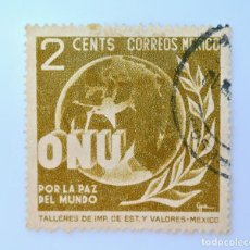 Sellos: SELLO POSTAL MÉXICO 1946, 2 CTS, O.N.U. POR LA PAZ DEL MUNDO, USADO. Lote 232189110