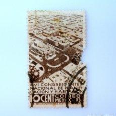 Sellos: SELLO POSTAL MÉXICO 1938, 10 CTS, XVI CONGRESO INTERNACIONAL DE PLANIFICACION Y HABITACION, USADO. Lote 232223395