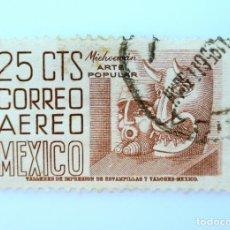 Sellos: SELLO POSTAL MÉXICO 1954, 25 CTS, MICHOACAN, ARTE POPULAR, USADO. Lote 232231060