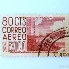 Sellos: SELLO POSTAL MÉXICO 1952, 80 CTS, CIUDAD UNIVERSITARIA ARQUITECTURA MODERNA, MÉXICO D.F., USADO. Lote 232248845