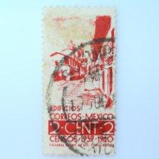 Sellos: SELLO POSTAL MÉXICO 1939, 2 CTS, TAXCO , GUERRERO. EDIFICIOS CORREOS : MÉXICO, USADO. Lote 232249795