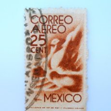 Sellos: SELLO POSTAL MÉXICO 1944, 25 CTS, VUELO, USADO. Lote 232252405