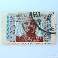 Sellos: SELLO POSTAL MÉXICO 1953, 25 CTS, II CENTENARIO DEL NATALICIO DE MIGUEL HIDALGO, USADO. Lote 232309400