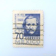 Sellos: SELLO POSTAL MÉXICO 1956, 70 CTS, CONSTITUYENTE DE 1857, FRANCISCO ZARCO, USADO. Lote 232485775