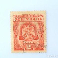 Sellos: SELLO POSTAL MÉXICO 1899, 2 CTS, ESCUDO DE ARMAS, USADO. Lote 232511665