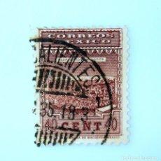 Sellos: SELLO POSTAL MÉXICO 1934, 40 CTS, PIEDRA DE LOS SACRIFICIOS, RAREZA EN EL COLOR, USADO. Lote 232518635
