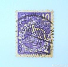 Sellos: SELLO POSTAL MÉXICO 1935, 10 CTS, CENSO INDUSTRIAL 1935, DIRECCION DE ESTADISTICA, USADO. Lote 232552625