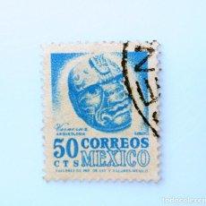 Sellos: SELLO POSTAL MÉXICO 1962, 50 CTS, VERACRUZ , ARQUEOLOGIA, USADO. Lote 232563980