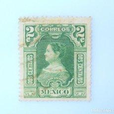 Sellos: SELLO POSTAL MÉXICO 1910, 2 CTS, CENTENARIO DE LA INDEPENDENCIA, LEONA VICARIO, USADO. Lote 232716715