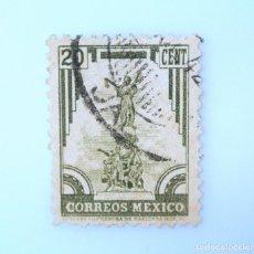 Sellos: SELLO POSTAL MÉXICO 1934, 20 CTS, MONUMENTO A LA INDEPENDENCIA, ESTADO DE PUEBLA, USADO. Lote 232748240