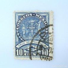 Sellos: SELLO POSTAL MÉXICO 1934, 10 CTS, CRUZ DEL PALENQUE, USADO. Lote 232818940