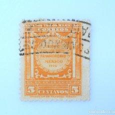 Sellos: SELLO POSTAL MÉXICO 1926, 5 CTS, SEGUNDO CONGRESO POSTAL PANAMERICANO, USADO. Lote 232820575