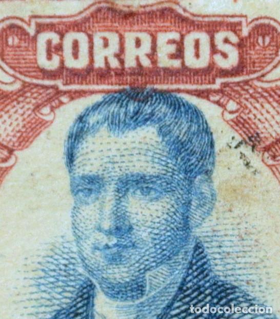 Sellos: SELLO POSTAL MÉXICO 1910, 20 cts, MARIANO ABASOLO, CENTENARIO DE LA INDEPENDENCIA, ERROR IMP. USADO - Foto 3 - 232824750