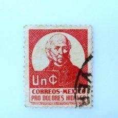Sellos: SELLO POSTAL MÉXICO 1941, 1 CTS, PRO DOLORES HIDALGO, MIGUEL HIDALGO Y COSTILLA, USADO. Lote 233164995