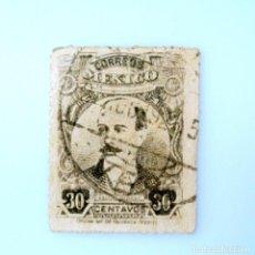 Sellos: SELLO POSTAL MÉXICO 1917, 30 CTS, LIDERES REVOLUCIONARIOS, AQUILES SERDAN, USADO. Lote 233173970