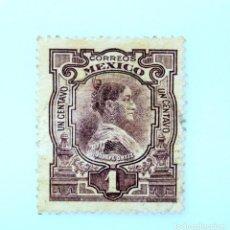 Sellos: SELLO POSTAL MÉXICO 1910, 1 CTS , CENTENARIO DE LA INDEPENDENCIA, JOSEFA ORTIZ DE DOMINGUEZ, USADO. Lote 233206375