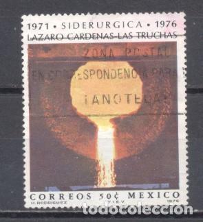 MEXICO 1976, USADO, SIDERURGIA (Sellos - Extranjero - América - México)
