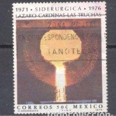 Sellos: MEXICO 1976, USADO, SIDERURGIA. Lote 238305525