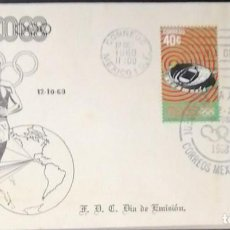 Sellos: O) JUEGOS OLIMPICOS DE VERANO DE MEXICO 1980 MOSCU, MEDALLA DE BRONCE MOSCU 80, MISHA, ANILLOS OLIMP. Lote 243690375