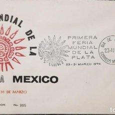 Sellos: O) 1954 MÉXICO, ESTATUILLA DE PLATA DE LA MUJER MEXICANA PRIMER MUNDO, FERIA DE PLATA, FDC XF. Lote 243898430