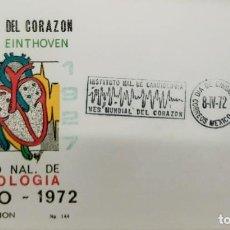 Sellos: O) 1972 MÉXICO, MEDICINA INSTITUTO NACIONAL DE CARDIOLOGÍA, ACTIVIDAD ELÉCTRICA DE CANCELACIÓN CARDÍ. Lote 243914560