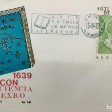 Sellos: O) 1972 MÉXICO, ABOGADO JUAN RUIZ DE ALARCON, ARTE Y CIENCIA MEXICANOS A TRAVÉS DE LOS SIGLOS, FDC X. Lote 243923610