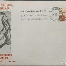 Sellos: O) 1972 MÉXICO, IGNACIO MAÑA CASTORENA, GACETA DE MÉXICO, PERIÓDICO MEXICANO, FDC XF. Lote 243928915