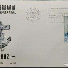 Sellos: O) 1972 MEXICO, INDEPENDENCE,SHIP, ZARAGOZA SCHOOL CORBETA, NAVAL SCHOOL, FDC XF. Lote 243932255