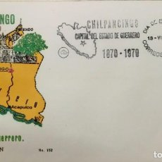 Sellos: O) 1972 MÉXICO, OLIVAR Y RAMA CHILPANCINGO, FDC XF. Lote 243932365