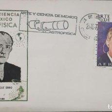 Sellos: O) 1973 MÉXICO, ASTRONOMÍA, LUIS ENRIQUE ERRO, FUNDADOR DEL OBSERVATORIO DE TONANZINTLA, ARTE Y CIEN. Lote 246592435