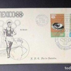 Sellos: RO) 1968 MÉXICO, JUEGOS OLÍMPICOS MÉXICO, PALOMA DE LA PAZ, ESTADIO DE LA CIUDAD UNIVERSITARIA, ATLE. Lote 246606315