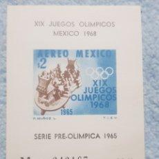 Sellos: MÉXICO SERIE PREOLIMPICA 1965 -1968. Lote 254072900