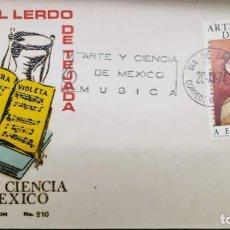 Sellos: O) 1974 MÉXICO, MIGUEL LERDO DE TEJADA, COMPOSITOR, ARTE Y CIENCIA, FDC XF. Lote 254438910