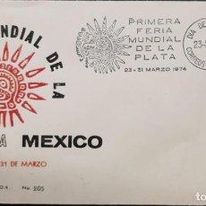 Sellos: O) 1974 MÉXICO, ESTATUILLA DE PLATA DE LA MUJER MEXICANA, PRIMERA PLATA DEL MUNDO, FDC XF. Lote 254451180