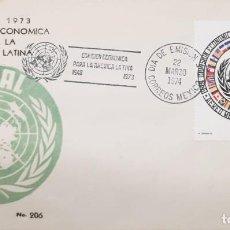 Sellos: O) 1974 MÉXICO, CEPAL, COMISIÓN ECONÓMICA PARA AMÉRICA LATINA, FDC XF. Lote 254454655