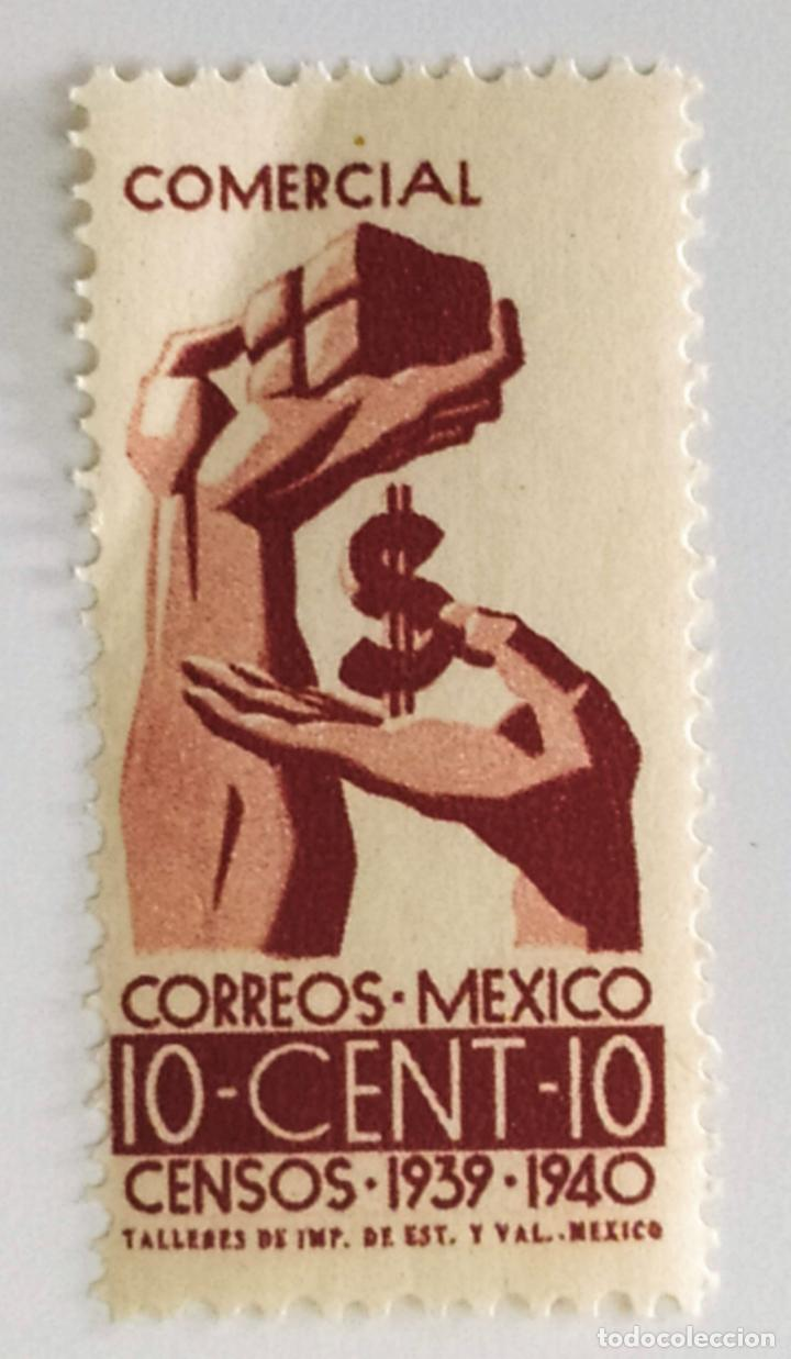 SELLO DE MEXICO 10 C - 1939 - CENSO - NUEVO SIN SEÑAL DE FIJASELLOS (Sellos - Extranjero - América - México)