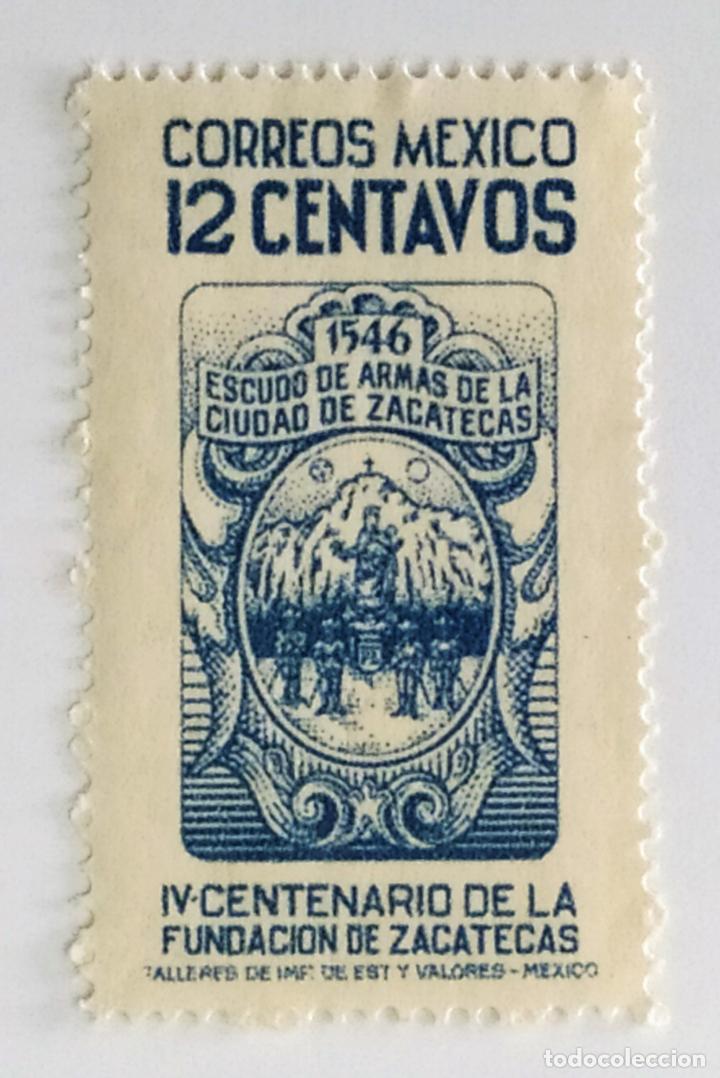 SELLO DE MEXICO 12 C - 1946 - CENTENARIO ZACATECAS - NUEVO SIN SEÑAL DE FIJASELLOS (Sellos - Extranjero - América - México)