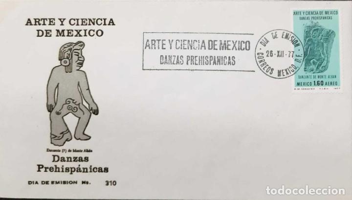 RO) 1977 MÉXICO, ARQUEOLOGÍA, BAILES PREHISPÁNICOS, CULTURA, ESCULTURAS PRE-COLUMBIANAS, MONTE ALBAN (Sellos - Extranjero - América - México)