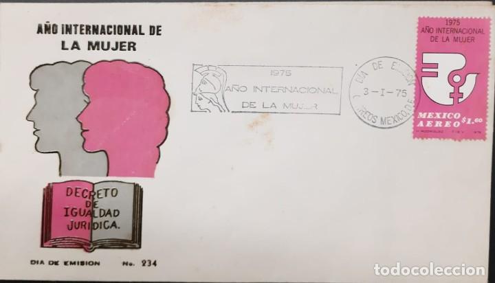 O) AÑO INTERNACIONAL FEMENINO MÉXICO 1972, FDC XF (Sellos - Extranjero - América - México)