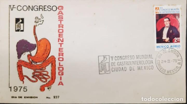O) 1975 MÉXICO, MEDICINA, CONGRESO MUNDIAL DE GASTROENTEROLOGÍA, DR MIGUEL JIMENEZ POR I RAMIREZ, PI (Sellos - Extranjero - América - México)